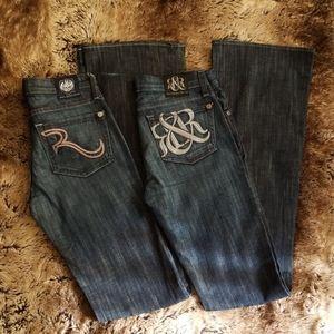 Rock & Republic Low Waist Flare Leg Jean's 2 Pair